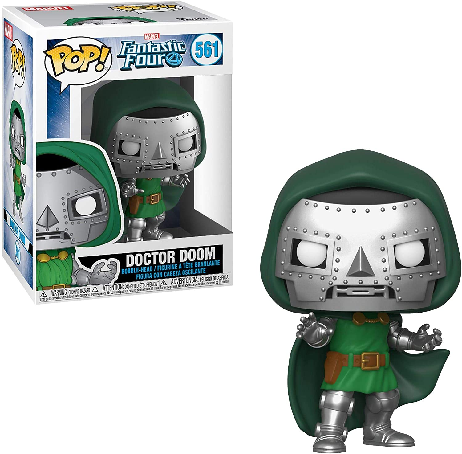 Funko- Pop Marvel: Fantastic Four-Doctor Doom Collectible Toy ...