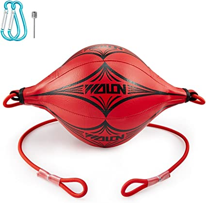 Boxing Ball Speed Training Ball Double-end Bags Leather Speed Bag Punching Dodge