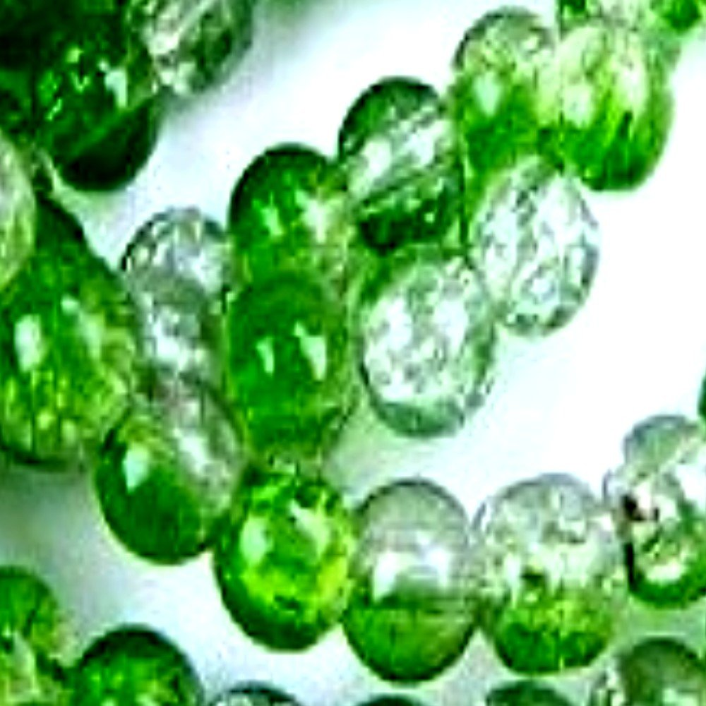 50 pieces 10mm Crackle Glass Beads - Emerald Green & Clear - A2038 k2-accessories