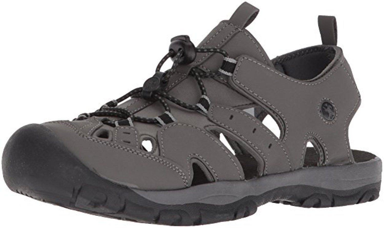 Northside Men's Burke II Athletic Summer Sandal, Dk Gray, 11 D(M) US; with a Waterproof Wet Dry Bag