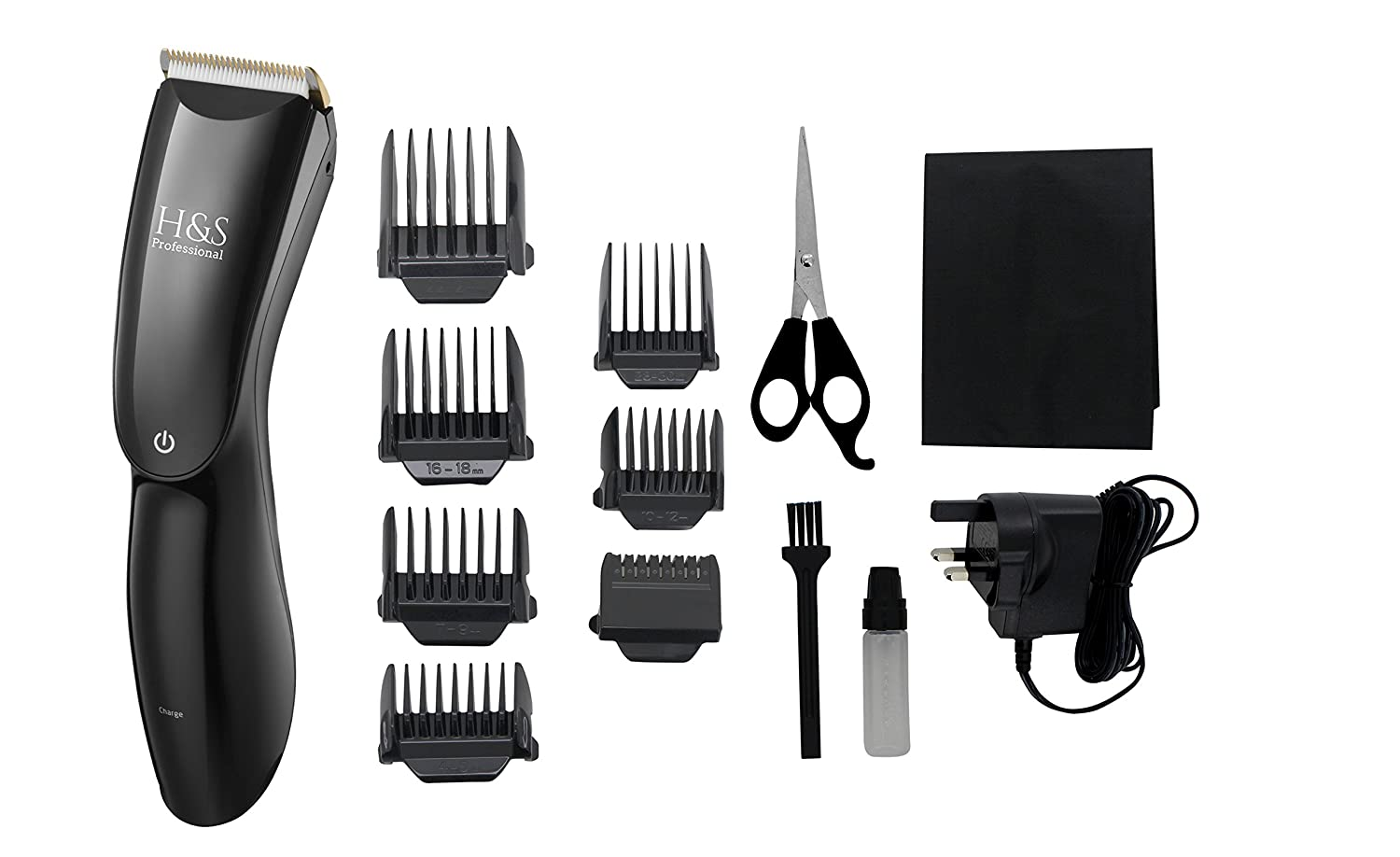 H& S Pro Cordless Hair Clippers with LED Display, Rechargeable Hair Trimmer, Haircut Kit with 8 Guide Combs 100% Money Back Guarantee of Satisfaction! JLS Personal Care Ltd.