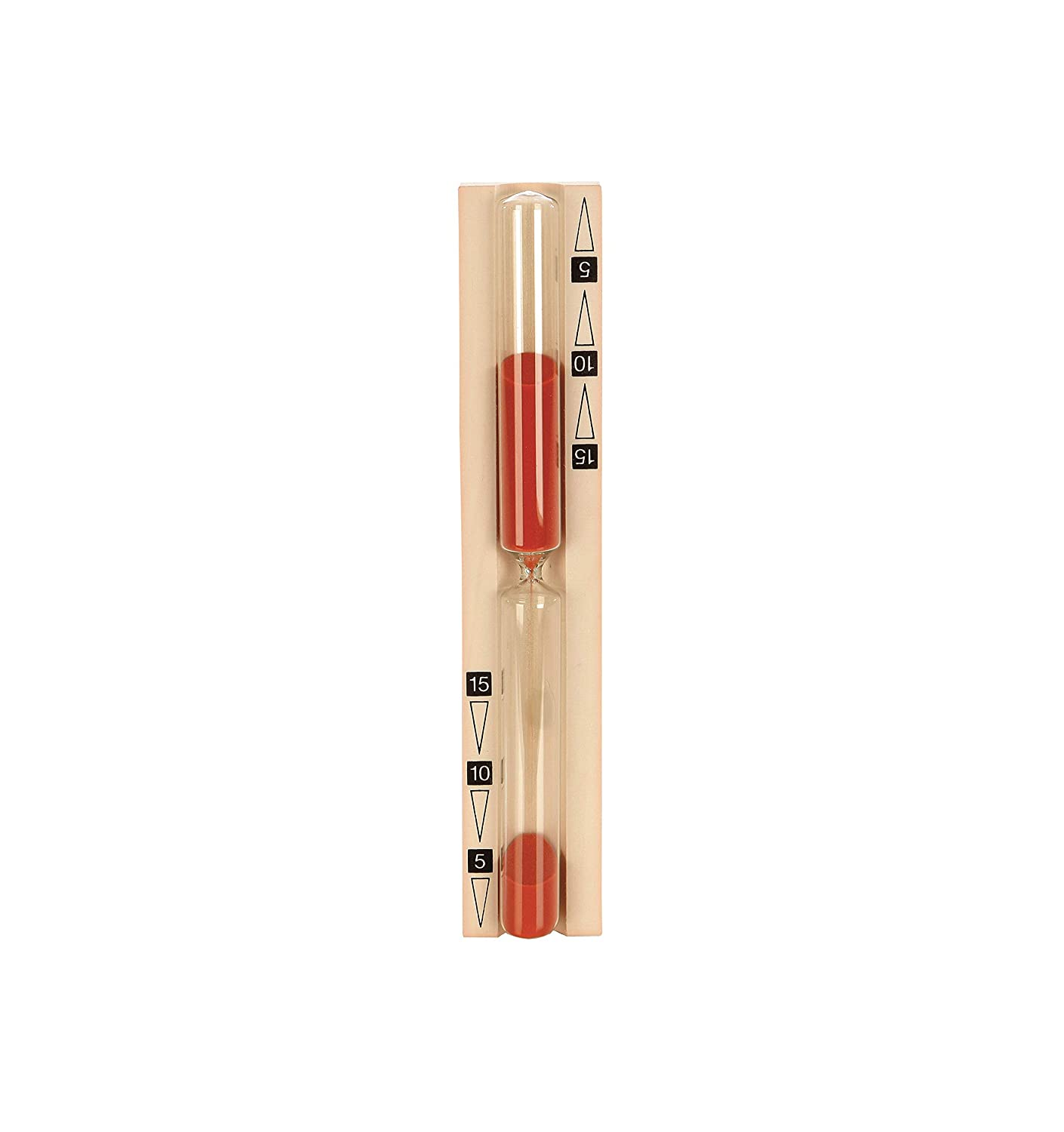 eliga Sand Timer Red Sand with Black Printed Minute Scale 833470