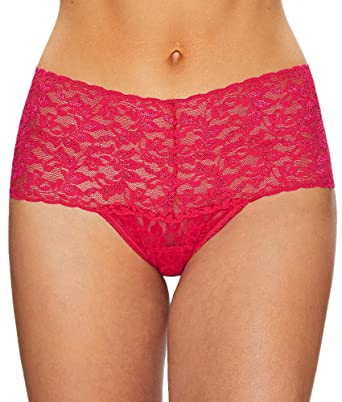 ce7f0ae1d4b2 Hanky Panky Women's Signature Lace Retro Thong Bright Rose One Size ...