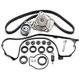 ECCPP Fits Honda Civic DX EX GX LX 1.7 Timing Seal D17A Timing Belt Kit Valve Cover Gasket Water Pump TBK312