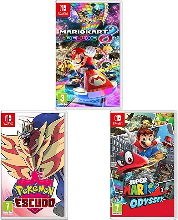 Nintendo Mario Kart 8 Deluxe + Super Mario Odyssey + Pokémon ...