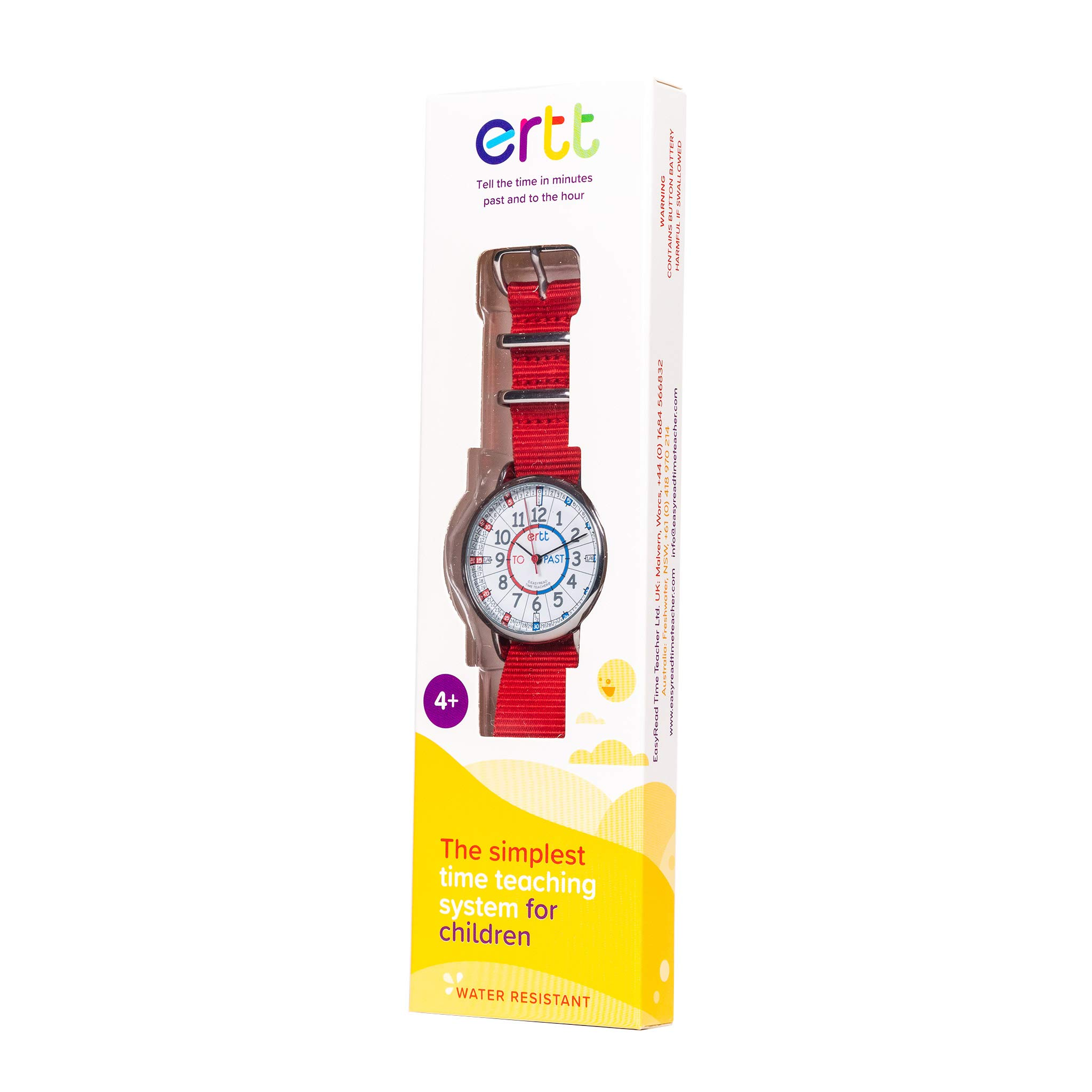 EasyRead Time Teacher Children's Watch, Red Blue Past & to Face, Red Strap by EasyRead Time Teacher (Image #3)