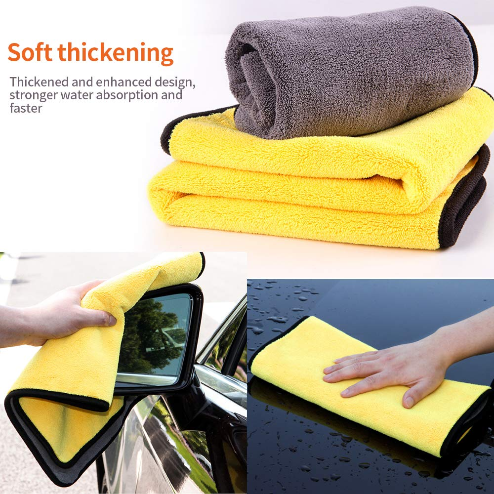 inch with 11.8x23.5 YUNDA Car Drying Towel,Pack of Two 11.8x11.8 inch Microfiber Cleaning Cloth Universal Towel for Car,Windows,Home and Screen