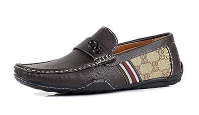 official photos 39eed 54b78 Herren Schwarz Braun GG Designer Freizeit Sommer Slipper Slipper Fahren  Modische Schuhe UK Größe