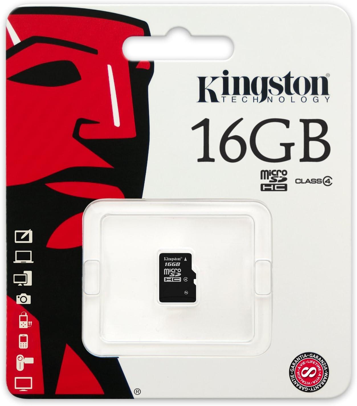 Kingston Sdc4 16gb Microsdhc 16gb Bis Zu 4mb S Klasse 4 Speicherkarte