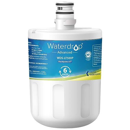 Waterdrop nevera filtro de agua de repuesto para LG LT500P ...