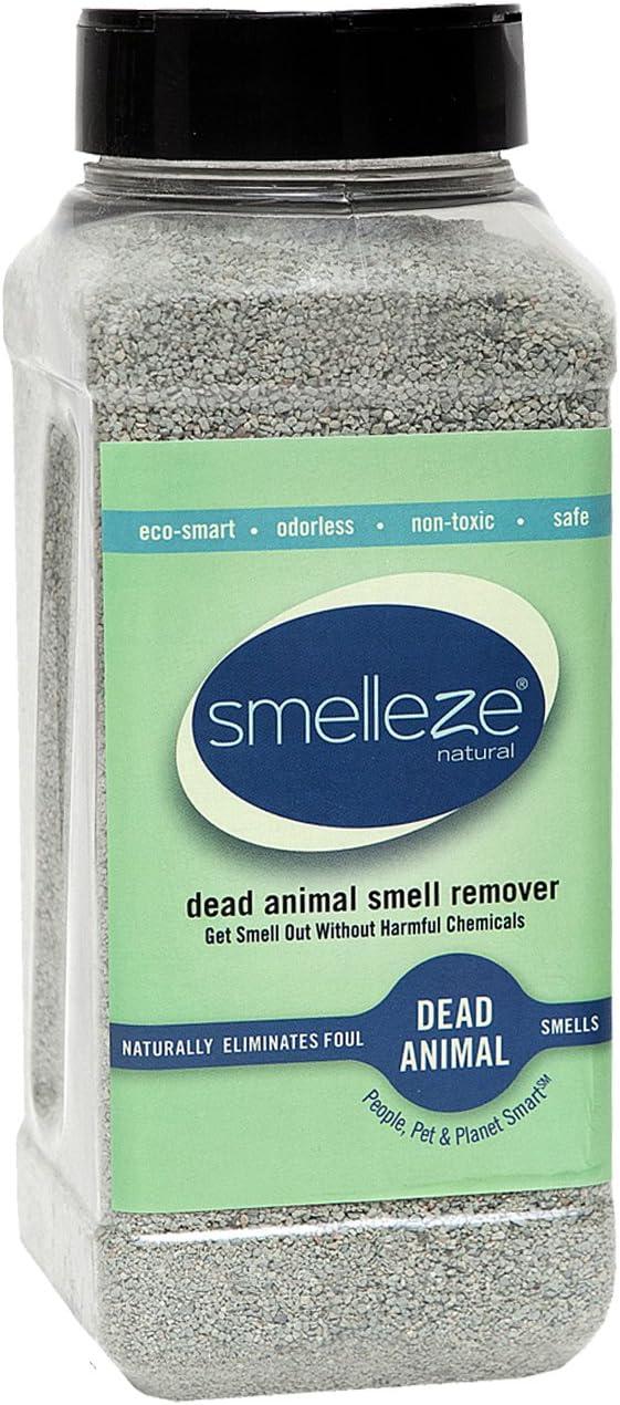SMELLEZE Natural Dead Animal Odor Removal 2 lbs Granules: Eliminate Dead Rat, Mice, Squirrel, Chipmunk, Raccoon & Bat Smell. Safe for Indoor & Outdoor Use