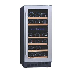"""N'FINITY PRO SD by Wine Enthusiast 15"""" Dual Zone Wine Cellar"""