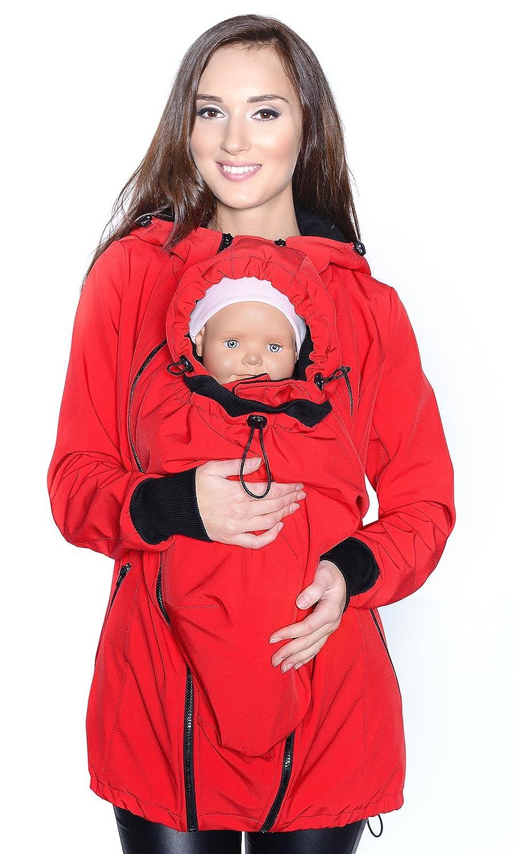 Mija Jacke Softshell 4068 3in1 Tragejacke f/ür Babytrage Umstandsjacke
