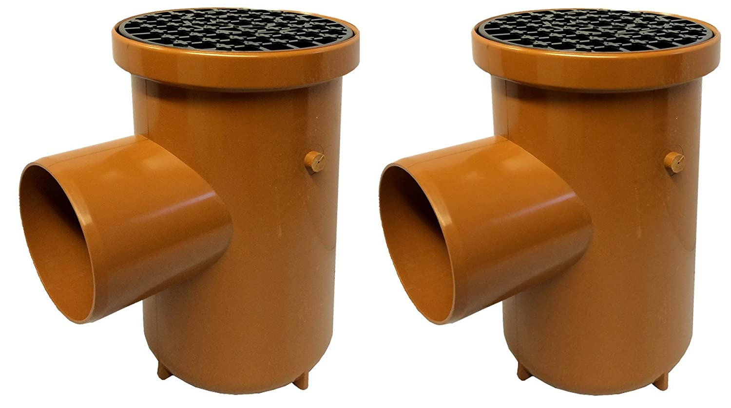 2 x Aquaflow Universal Underground Plain Ended Roddable Gully 110mm Round KALSI
