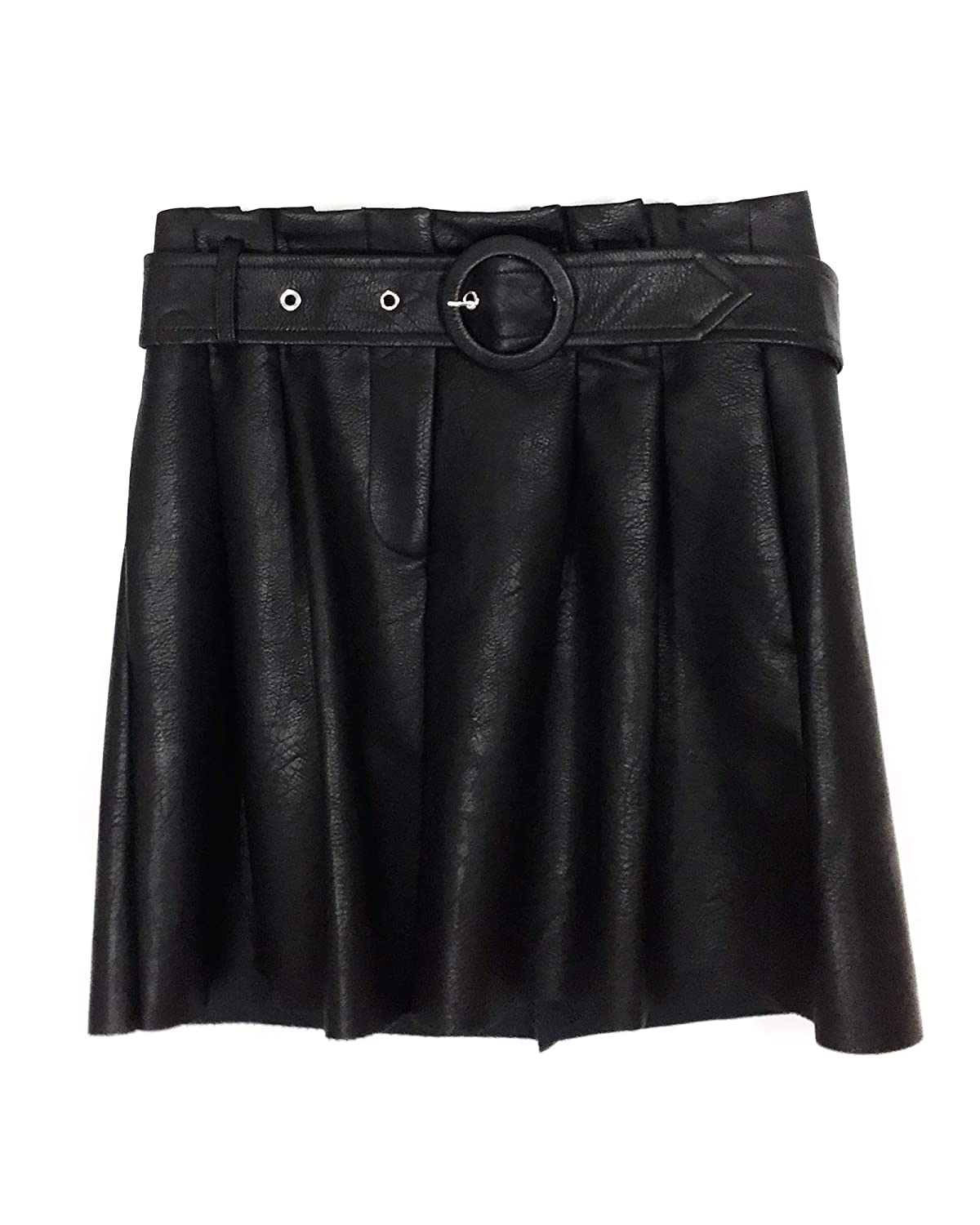 a4471171 Zara Women Faux Leather Mini Skirt with Belt 3046/029 at Amazon ...