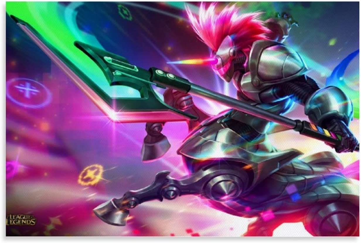 ZX71 League of Legends Hecarim Skins Poster Wall Art for living room Print Artwork Wall Art Decor Poster painting bedroom bathroom Decorations Canvas Prints Picture Home Office wall Decor 24x36inch(60