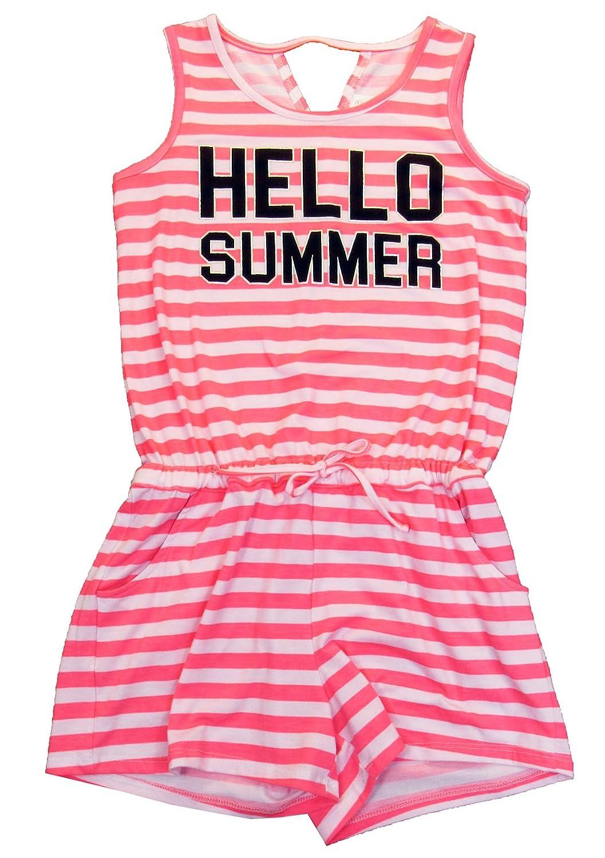 7-16 Ideology Big Girls Graphic-Print Hello Summer Romper Medium 10-12