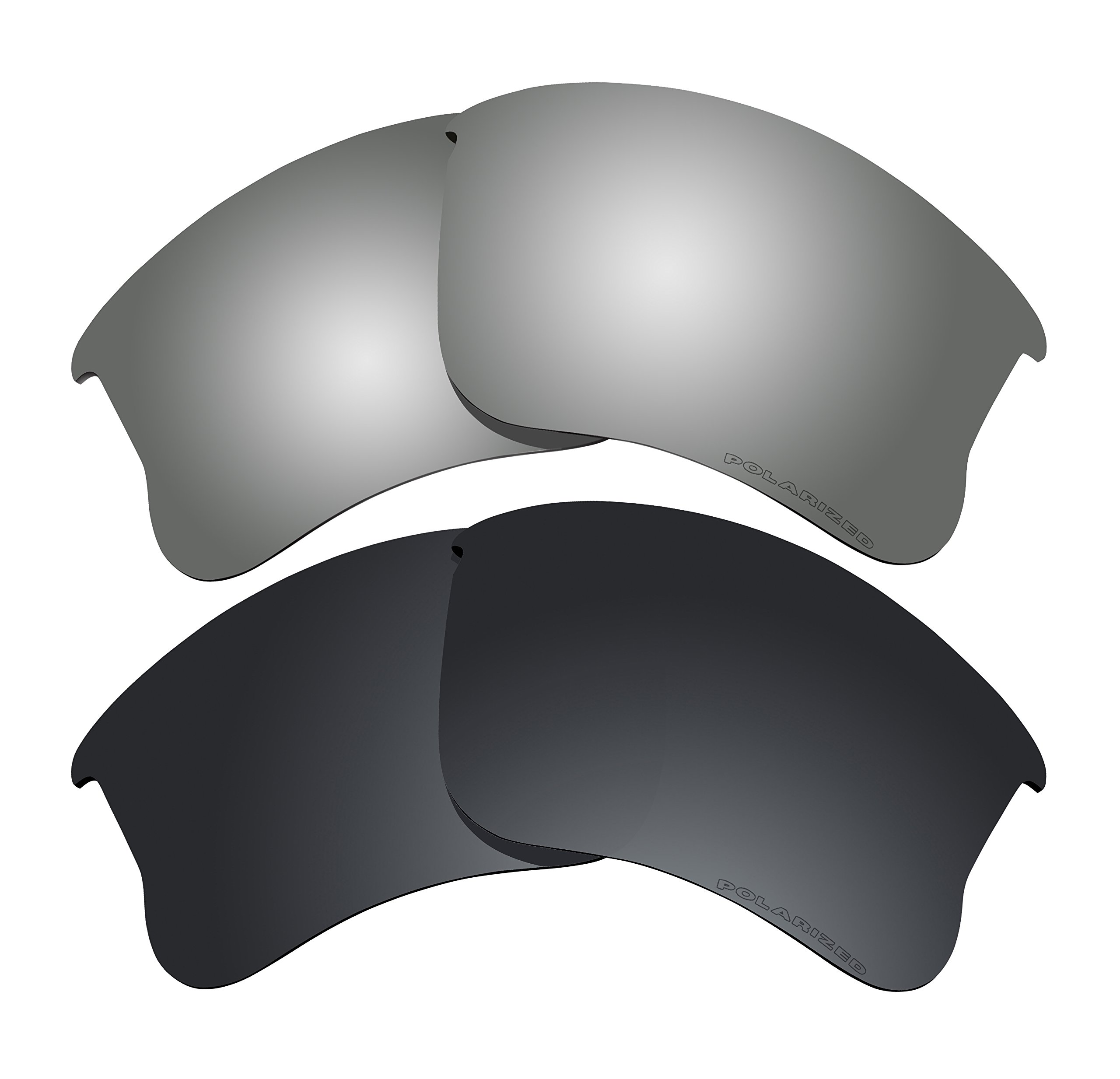 Polarized Lens Replacement Fit for Oakley Flak Jacket XLJ Sunglass 2 Pairs of Lenses Pack N18 by BVANQ (Image #1)