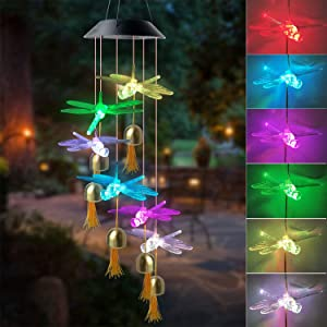 JOBOSI Black Dragonfly Wind Chime, Wind Chimes Outdoor, Gifts for mom, Garden Decor, Party Decor,Garden Gifts
