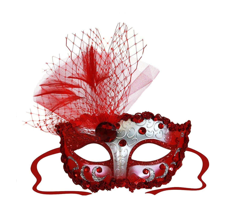 elizabeth silver decorated masquerade mask for