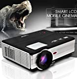 Video Projector Home Theater Cinema - 3500 Lumens LED LCD 1080P Movie Gaming (2017 Upgraded) for iPhone Android Smartphone DVD Game Consoles Including HDMI Cable, USB, Built-in Speaker, Keystone
