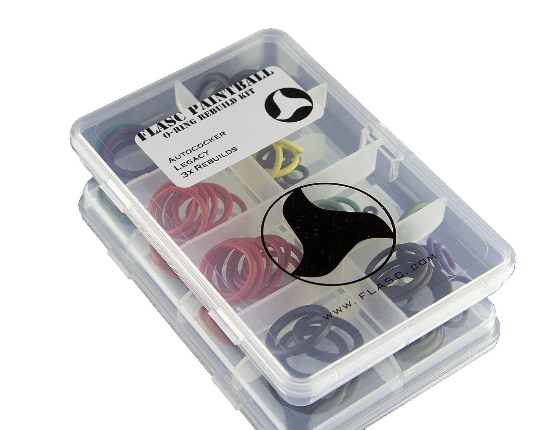 Autococker Legacy 3x Code couleur Paintball Joint torique Rebuild kit par Flasc Paintball