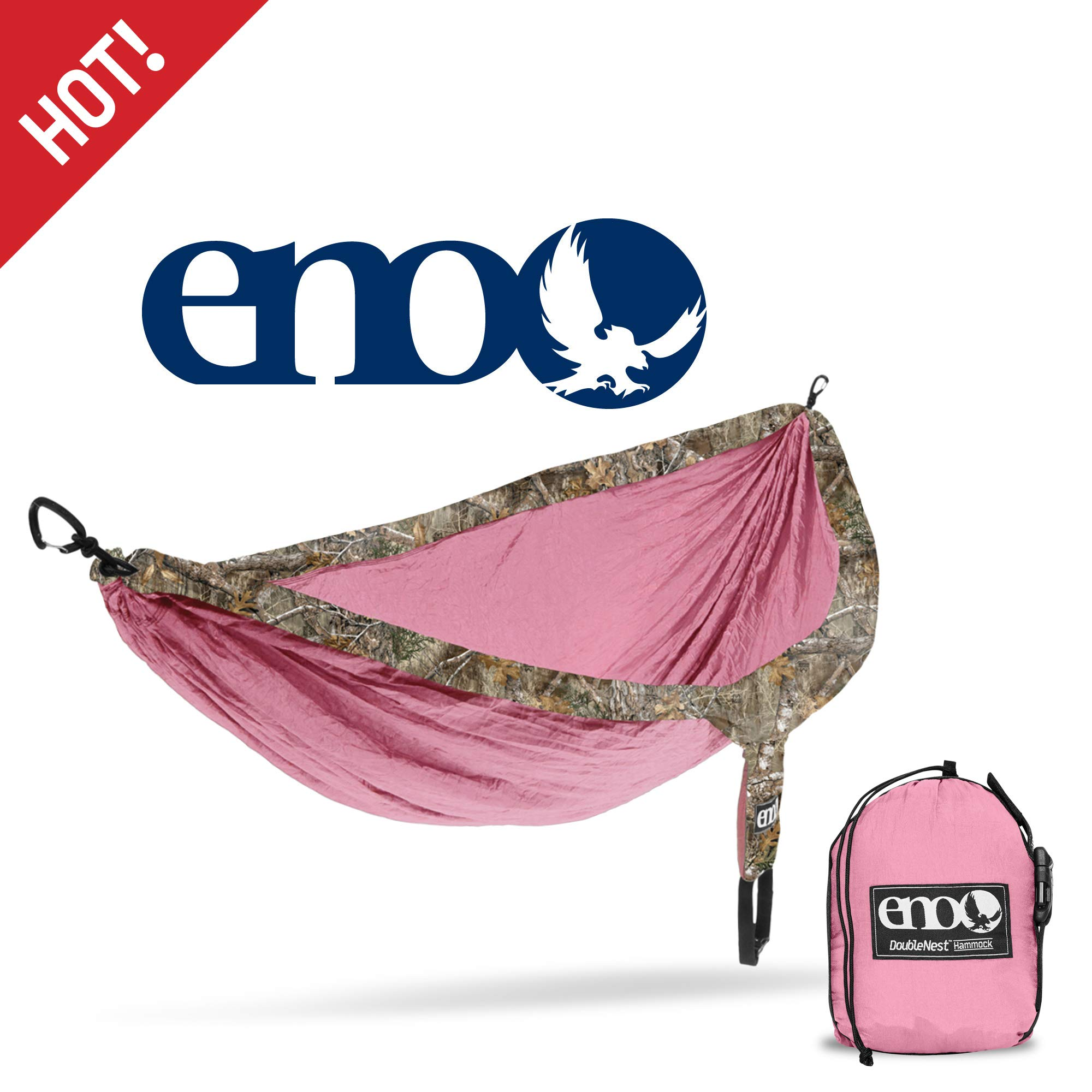 ENO - Eagles Nest Outfitters DoubleNest Camo, Portable Hammock for Two, Realtree Edge:Rose by ENO