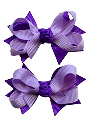 School Hair Bow Violet tissu vichy cheveux accessoires grands cheveux Bow//Attaché Bow