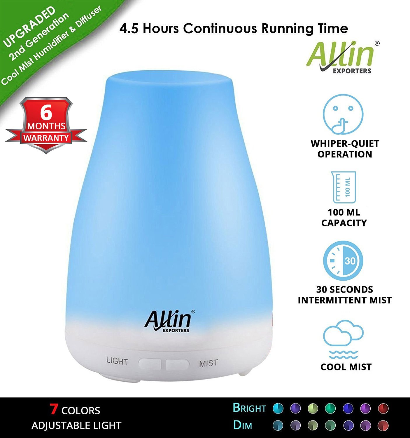 Best Rated In Home Fragrance Helpful Customer Reviews Buds Organics Mozzie Clear Spray 100ml Allin Exporters Electronic Ultrasonic Aroma Diffuser And Humidifier 2 1 Tank Capacity 6