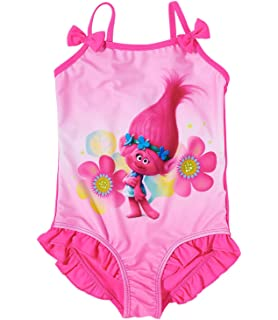 93a1aa1647 Trolls Girls Swim suit - purple - 10 yrs: Amazon.co.uk: Clothing