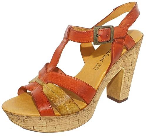 f95625205c12 Jean de Cabani Women s Toess Fashion Sandals Size  7 UK  Amazon.co ...
