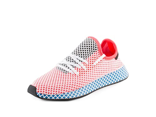wholesale dealer 2860d a4ec6 adidas Mens Originals Deerupt Runner Solar RedBlue Bird Mesh Size 7