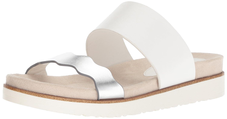 kensie Women's Digby Slide Sandal B0786WXFHH 10 M US White