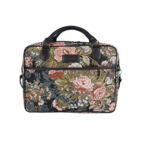 16e8886a9d8f Signare Tapestry Navy & Pink Computer Laptop Notebook Bag 15.6 inch in  Peony (CPU-PEO)
