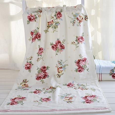 Ustide de rosas de toallas de baño para niñas algodón Toallas de ventilar de Super suave