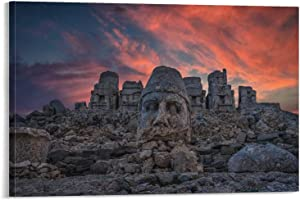 YuFeng_Art_Inn Nature Building Turkey Nemrut Canvas Art Poster and Wall Art Picture Print Modern Family Bedroom Decor Posters 12×18inch(30×45cm)