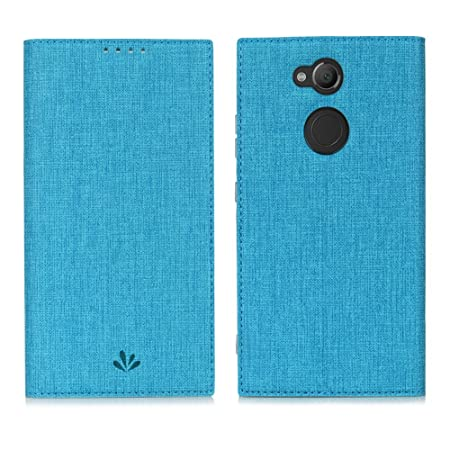 Eactcoo Ersatz für Sony Xperia XA2 Hülle Premium PU Leder klappbares Folio Flip Case Book TPU Cover Bumper Tasche Mit Standfu