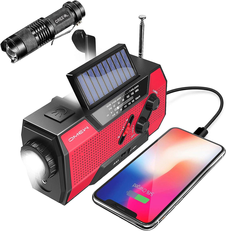 Omew Portable Crank Weather Radio