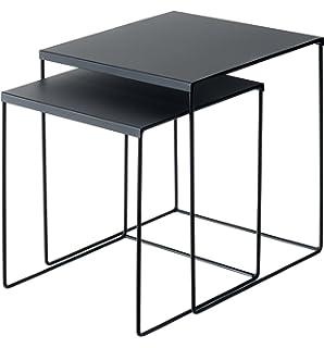 En Casa 2x Couchtisch Beistelltisch Wohnzimmertisch Tisch