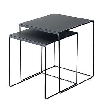 Beistelltisch Tischset Schwarz Couchtisch 2er Set Amazonde Küche