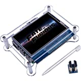 Quimat 3.5 Inch Touch Screen + Case 1920 * 1080 for Raspberry Pi 3 2 Model B Rpi B B+ A A+ Zero W TFT LCD Display Monitor Movie Play Arcade Game HDMI Audio Input with Touch Pen QC35C