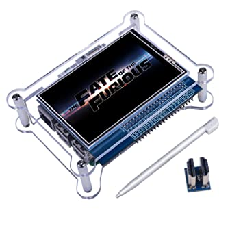 Quimat 3.5inch TFT-LCD Pantalla Táctil + Cascara para Raspberry pi 3 2 BB Monitor con Interfaz HDMI para Reproducción de Películas, Juegos Arcade, ...