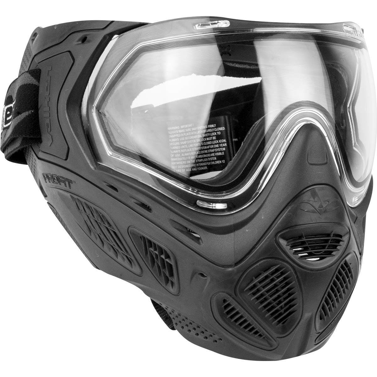 Valken Profit SC Paintball Goggle/Mask with Dual Pane Thermal Lens - Quick Change Foam - Black by Valken