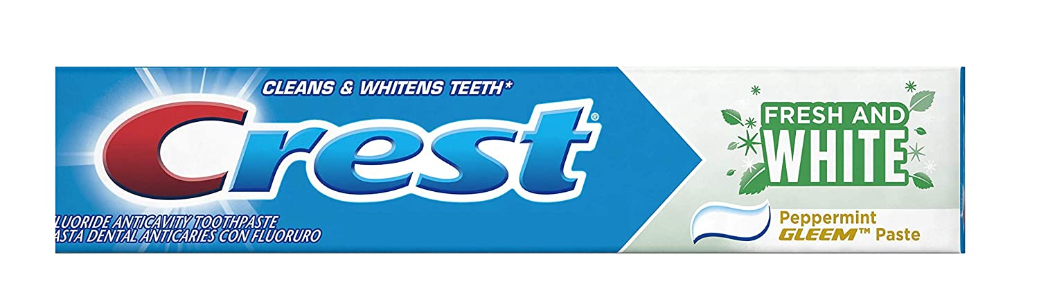 Crest Fresh and White Toothpaste 5.7 Oz (Formerly Gleem) | Pack of 2
