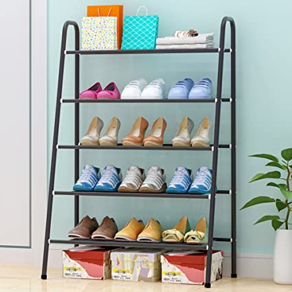GXu0026XD 5 Tier Shoe Rack DIY Shoe Tower Metal Storage Rack Shoe Storage  Organizer Stackable
