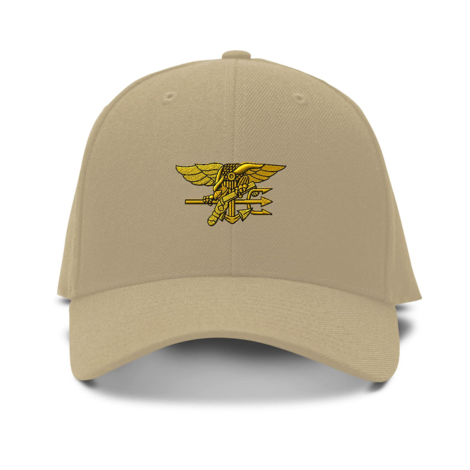 107cce0f8cd U.S. NAVY SEAL MILITARY Embroidery Embroidered Adjustable Hat Baseball Cap  Khaki