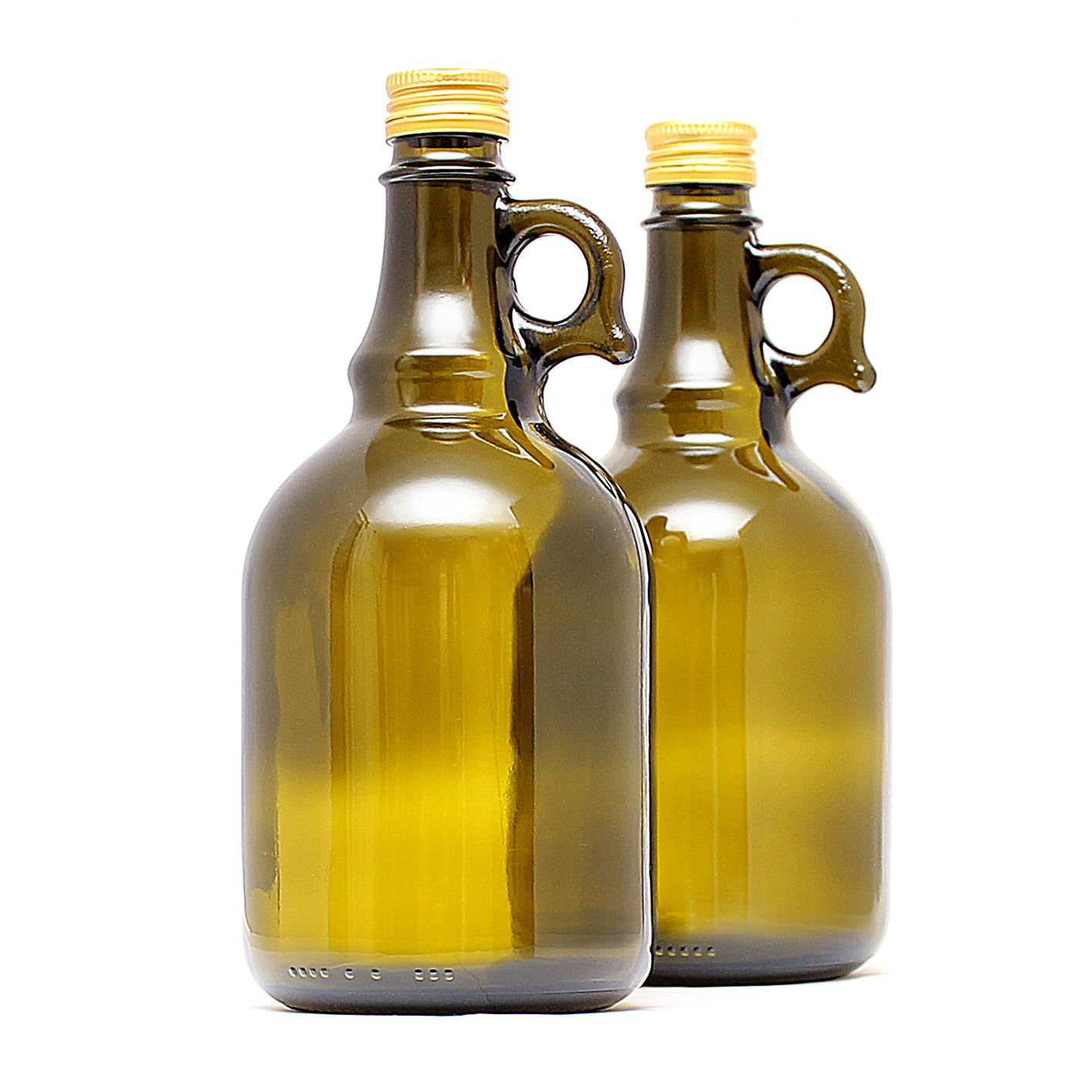 Biowin Olive Glass Bottle GALLONE - 1000ml, 500ml (x1,2,4) - Wine, Beer, Cider -Braided (1000ml, pack of 1 bottle)