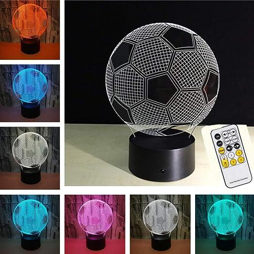 XuBa - Placa de 7 Colores con Forma de balón de fútbol en 3D, USB ...