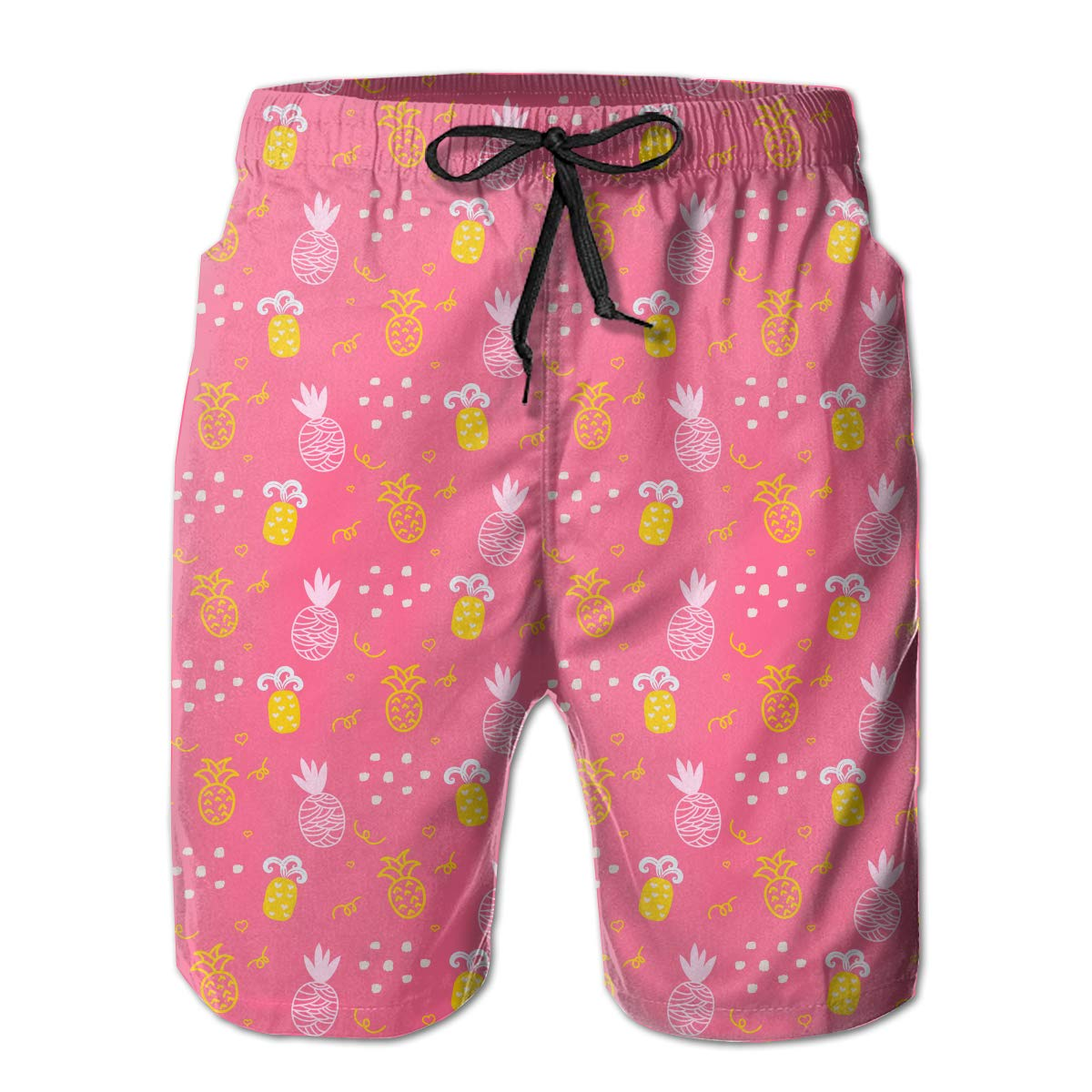 APPCLL Fashion Swim Trunks Mens Board Shorts Cute Girls Pineapple Pink Quick Dry Shorts
