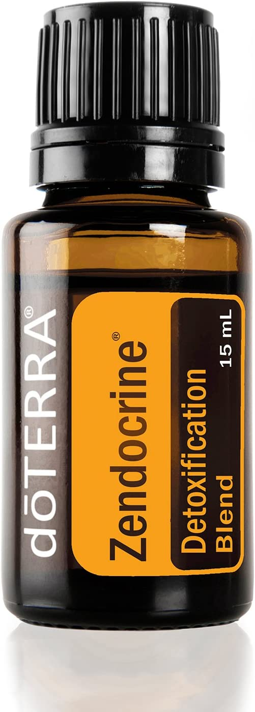 doTERRA – Zendocrine Essential Oil Detoxification Blend – Supports Healthy Liver Function, Elimination, Body System Purification and Detoxification for Diffusion, Internal, or Topical Use – 15 mL